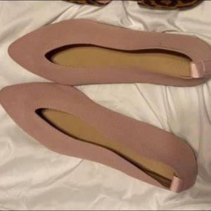 Charlotte Russe blush flats size 10